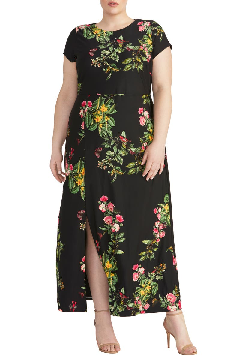 RACHEL RACHEL ROY Floral Jersey Maxi Dress, Main, color, BLACK COMBO