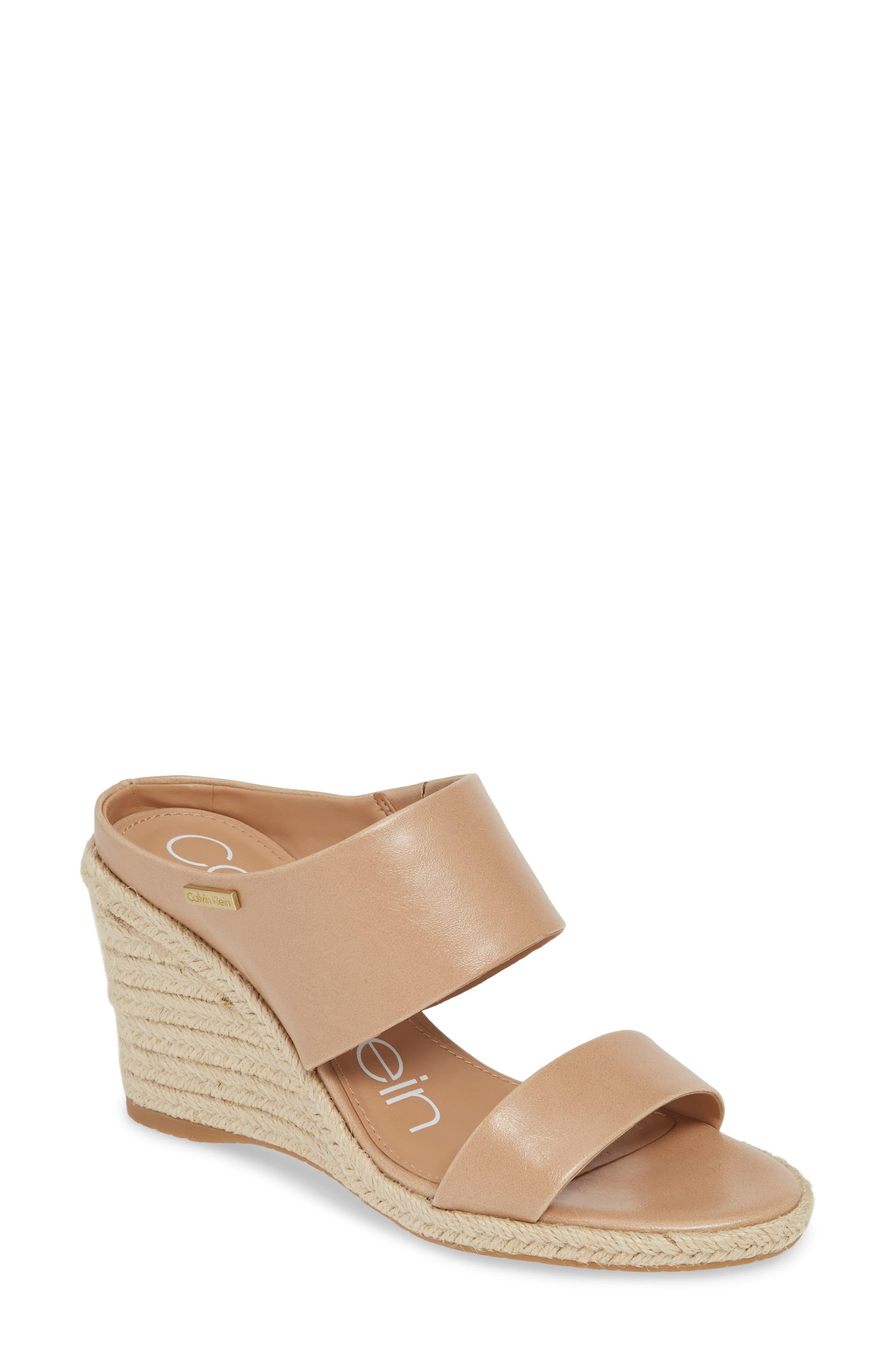 Calvin Klein Brooke Espadrille Wedge Sandal, Beige
