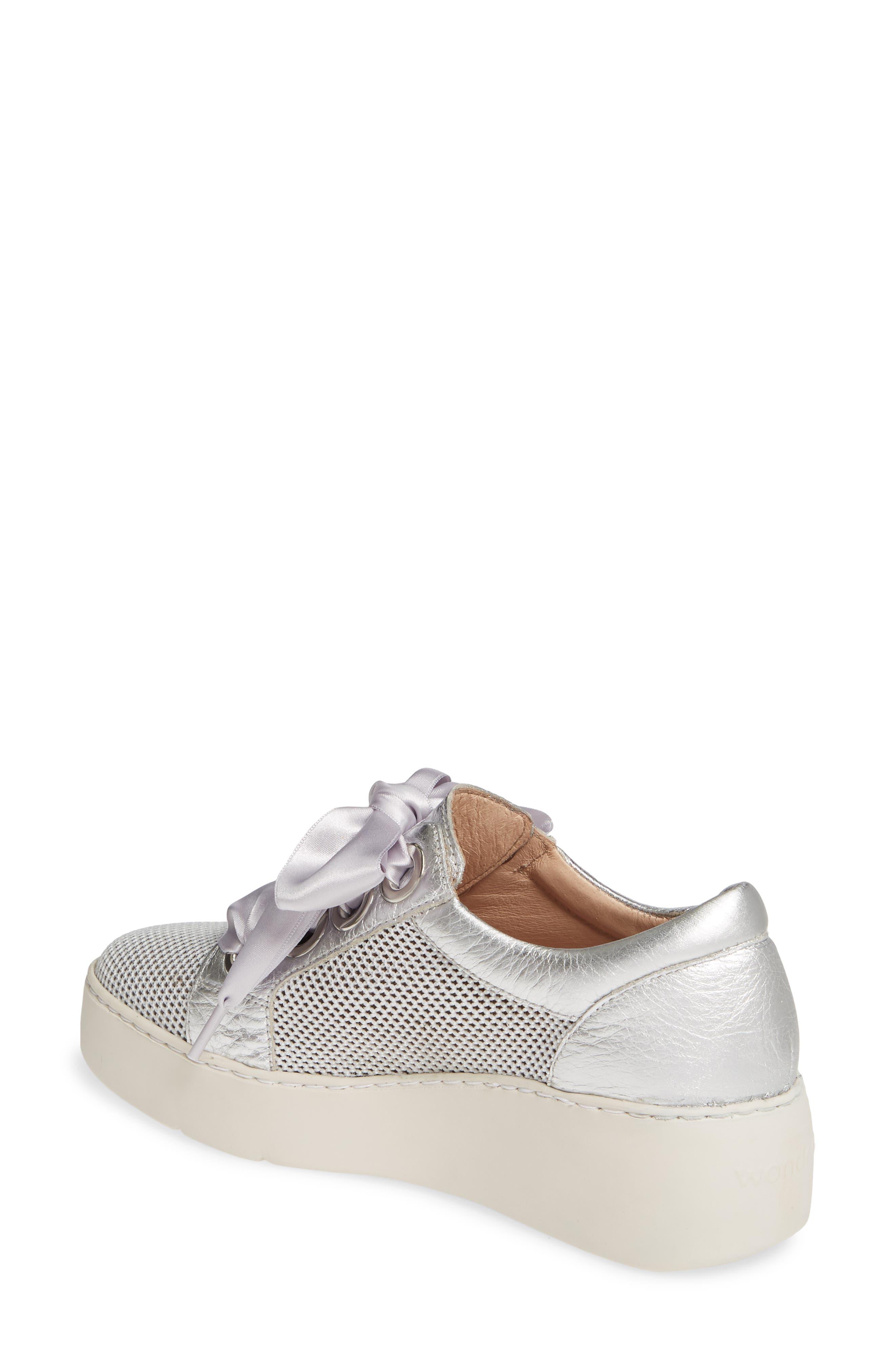 ,                             Platform Sneaker,                             Alternate thumbnail 2, color,                             SILVER LEATHER