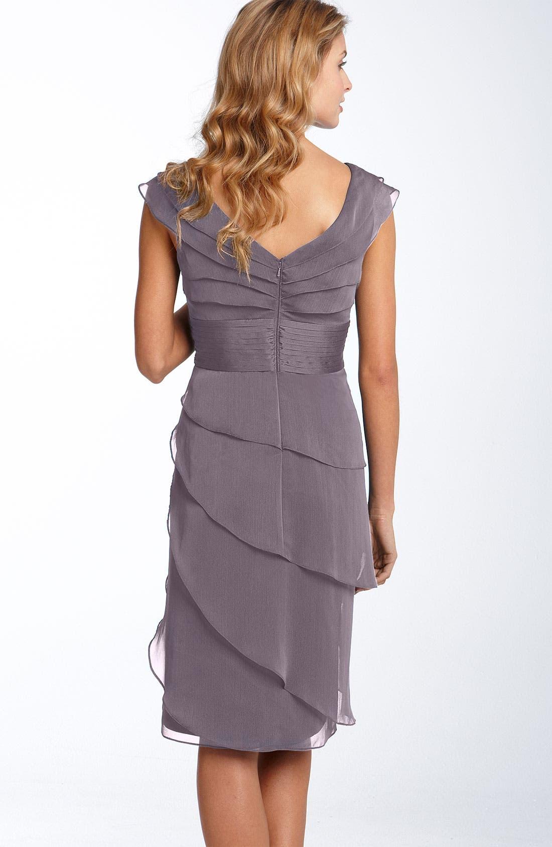 ,                             Tiered Chiffon Dress,                             Alternate thumbnail 43, color,                             512