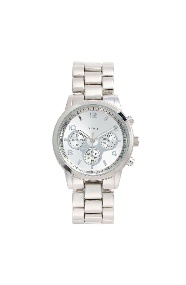 TITANIUM Bracelet Watch, 35mm, Main, color, SILVER