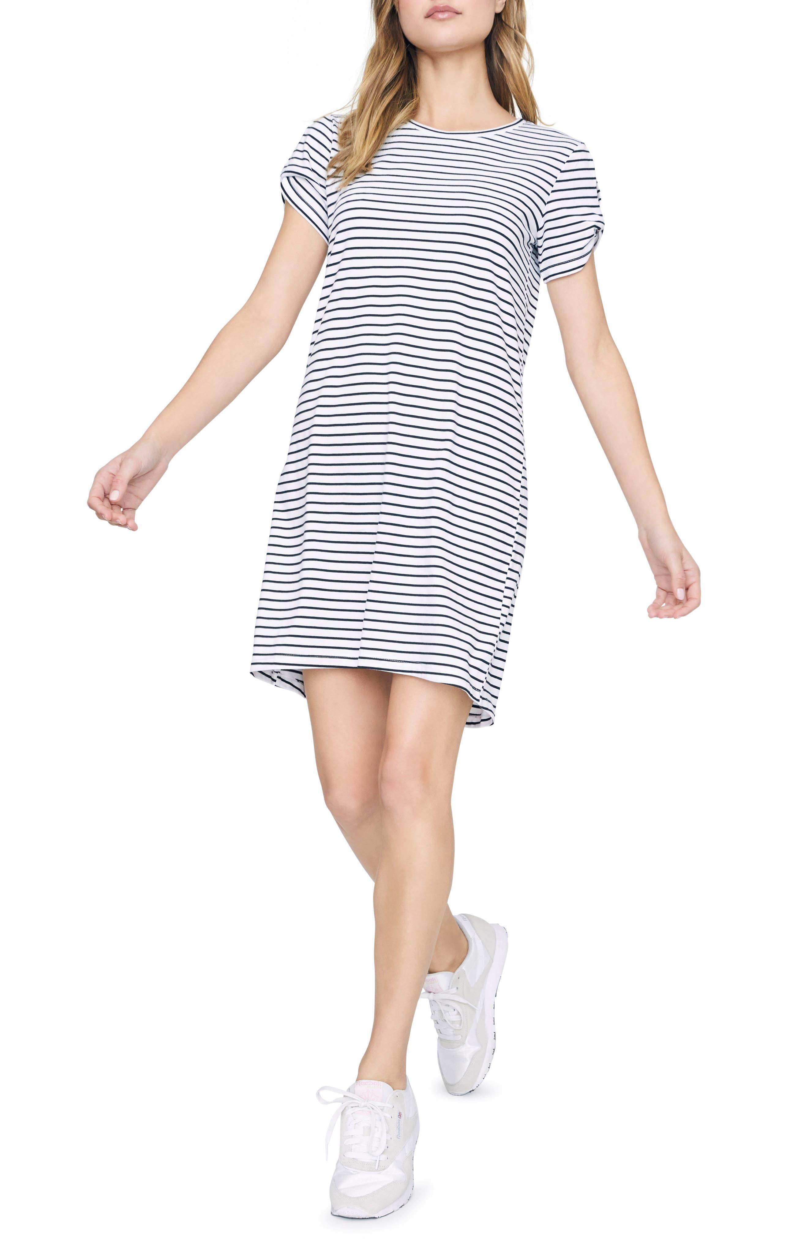 Sanctuary So Twisted Sleeve Detail Cotton Blend T-Shirt Dress