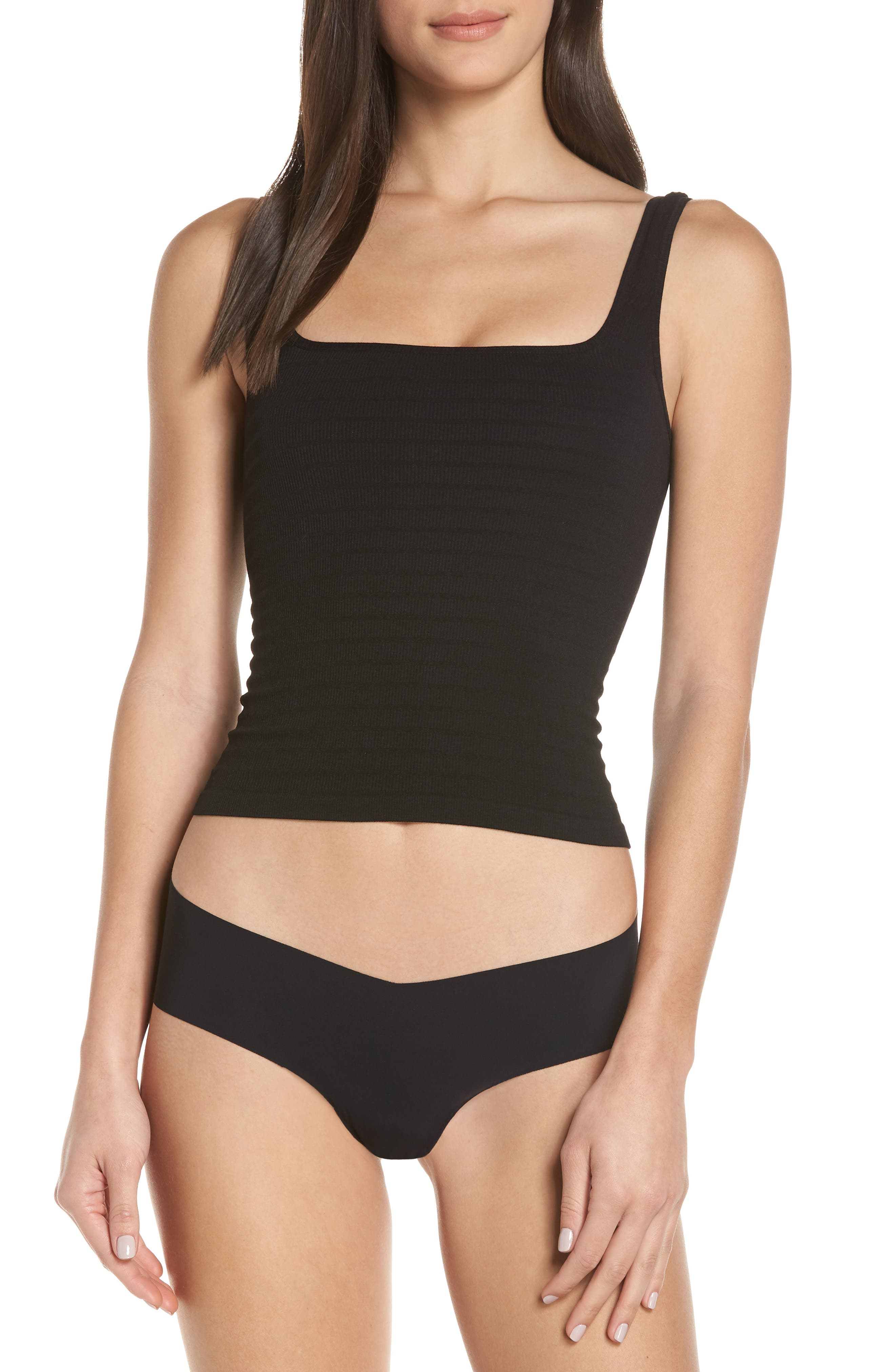 ,                             Intimately FP Square One Seamless Camisole,                             Main thumbnail 1, color,                             001