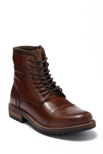 Image of Crevo Regent Cap Toe Leather Lug Boot