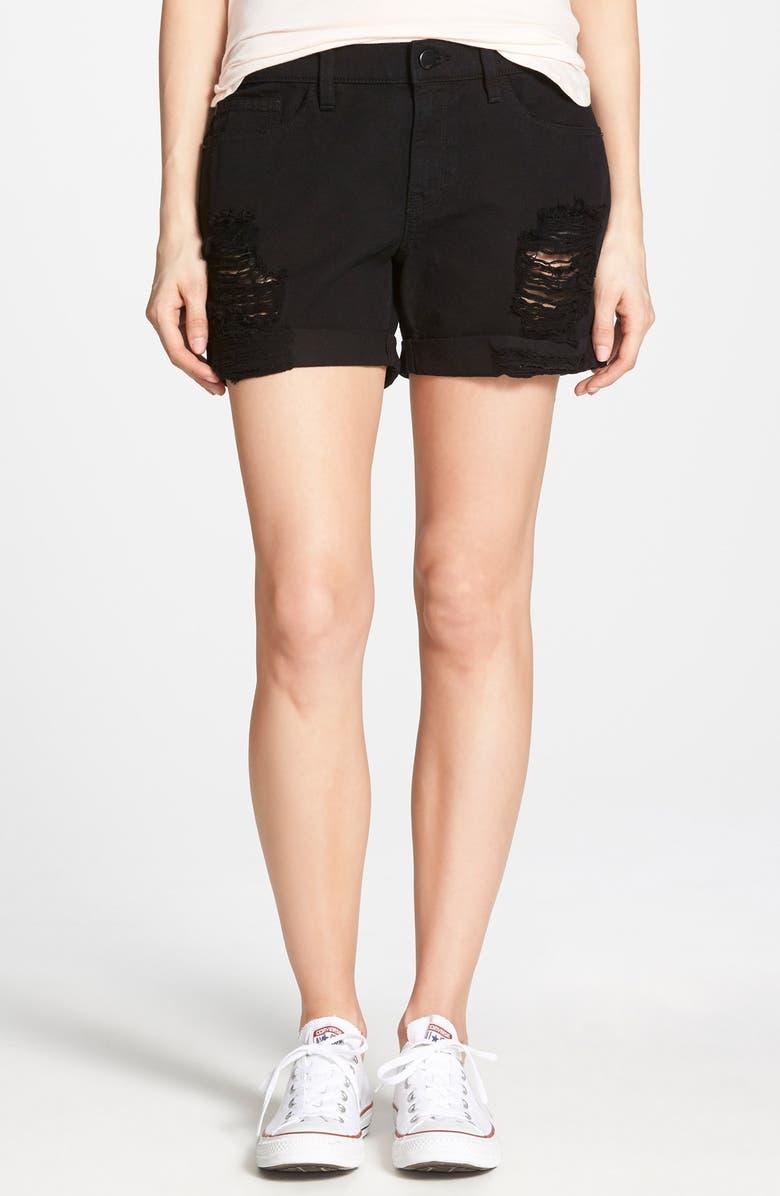 Black Distressed Shorts Pics