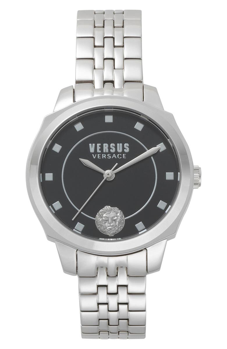 VERSUS VERSACE Chelsea Bracelet Watch, 34mm, Main, color, SILVER/ BLACK/ SILVER