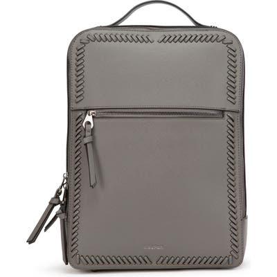 Calpak Kaya Faux Leather Laptop Backpack - Grey