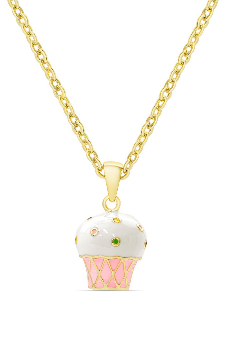 LILY NILY Cupcake Pendant Necklace, Main, color, GOLD