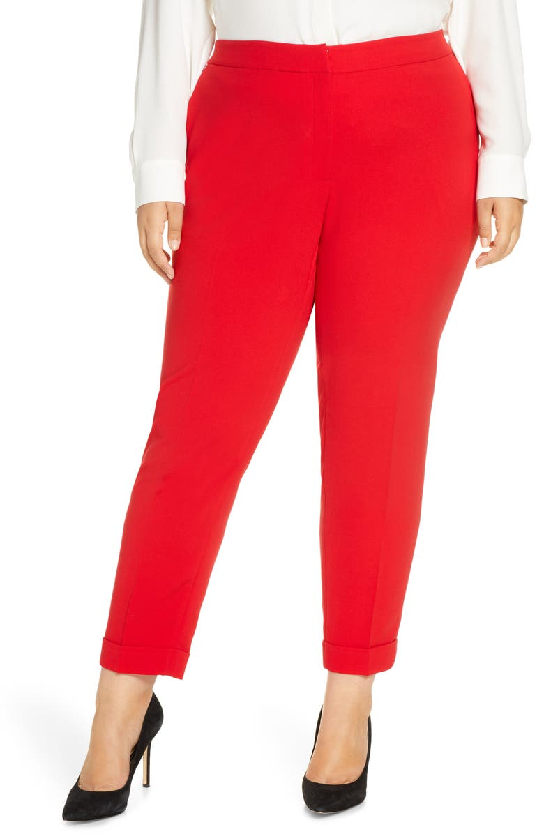 LAFAYETTE 148 NEW YORK Clinton Finesse Crepe Cuff Ankle Pants, Main, color, 644