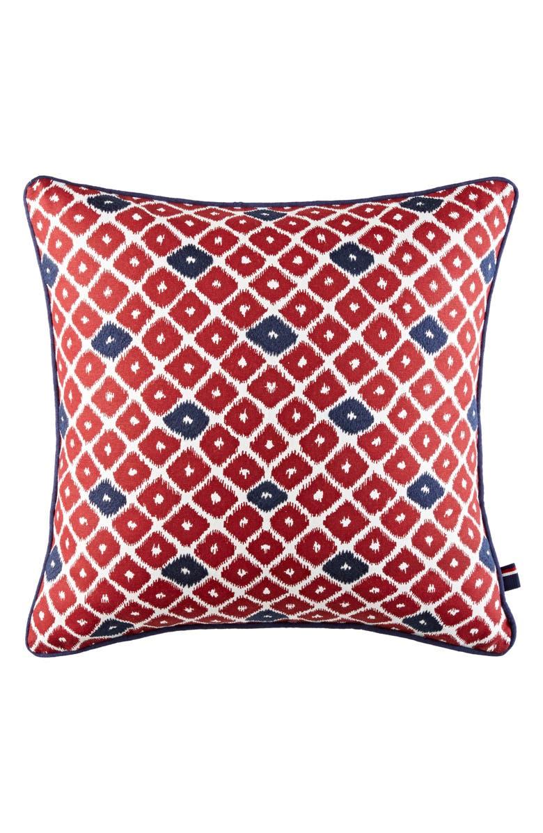 TOMMY HILFIGER Ellis Diamond Accent Pillow, Main, color, 600