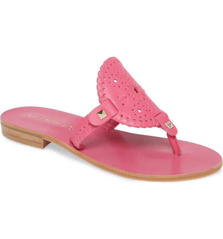 JACK ROGERS 'Georgica' Sandals, Main, color, MAGENTA LEATHER