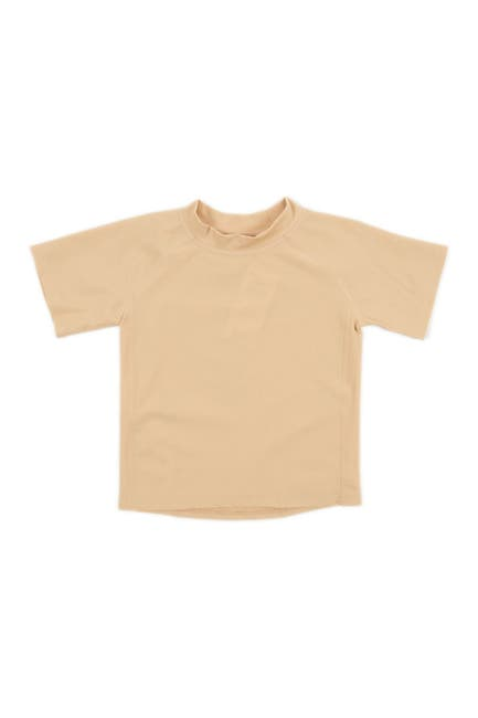 Image of Leveret Short Sleeve UPF +50 Rash Guard - Beige