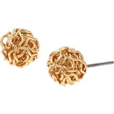 Allsaints Metal Ball Stud Earrings