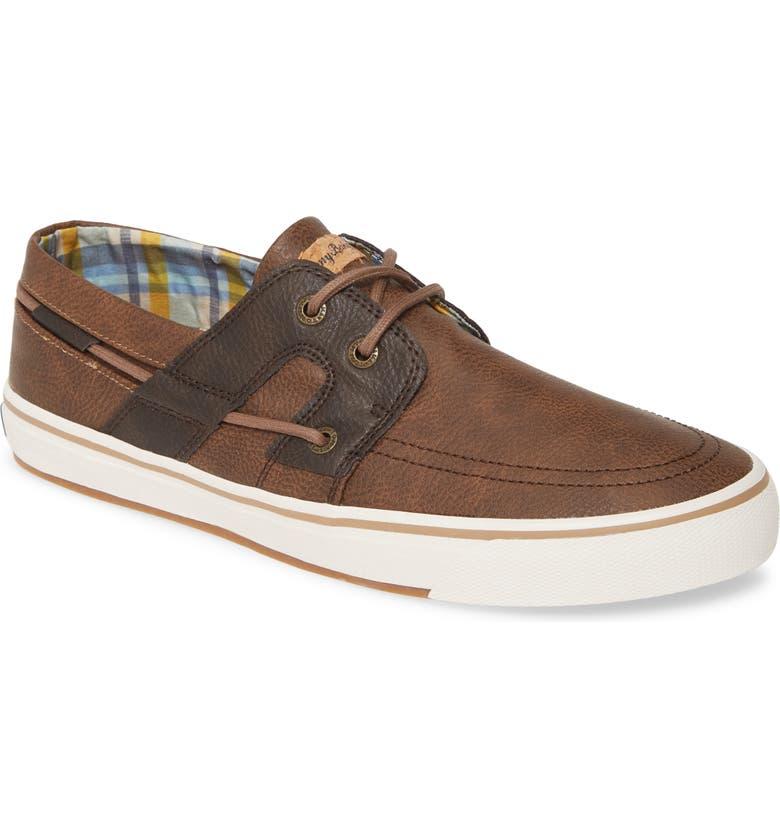 TOMMY BAHAMA Stripe Breaker Sneaker, Main, color, BROWN / DARK BROWN PU