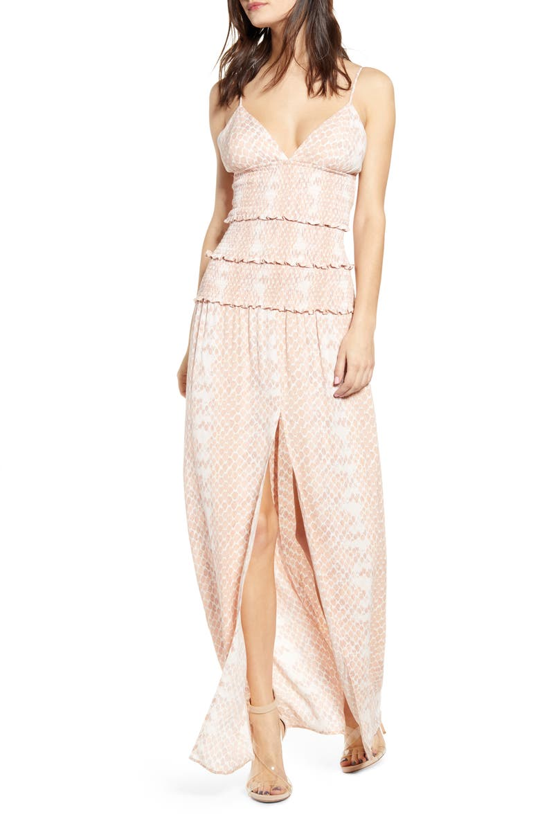 AFRM Shay Maxi Dress, Main, color, PASTEL SNAKE