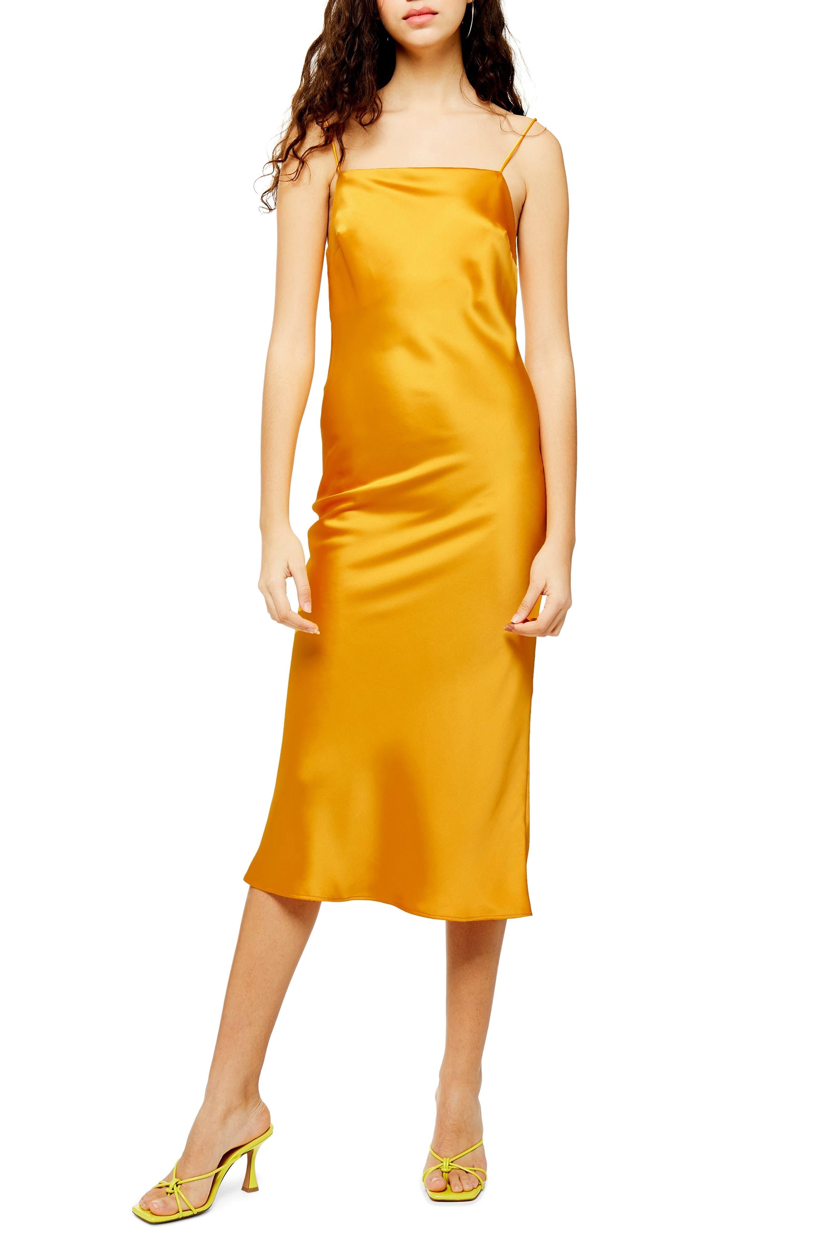 Topshop Square Neck Slipdress, US (fits like 2-4) - Yellow