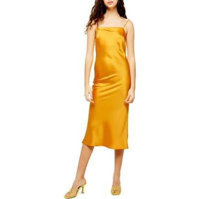 Topshop Square Neck Slipdress, US (fits like 6-8) - Yellow