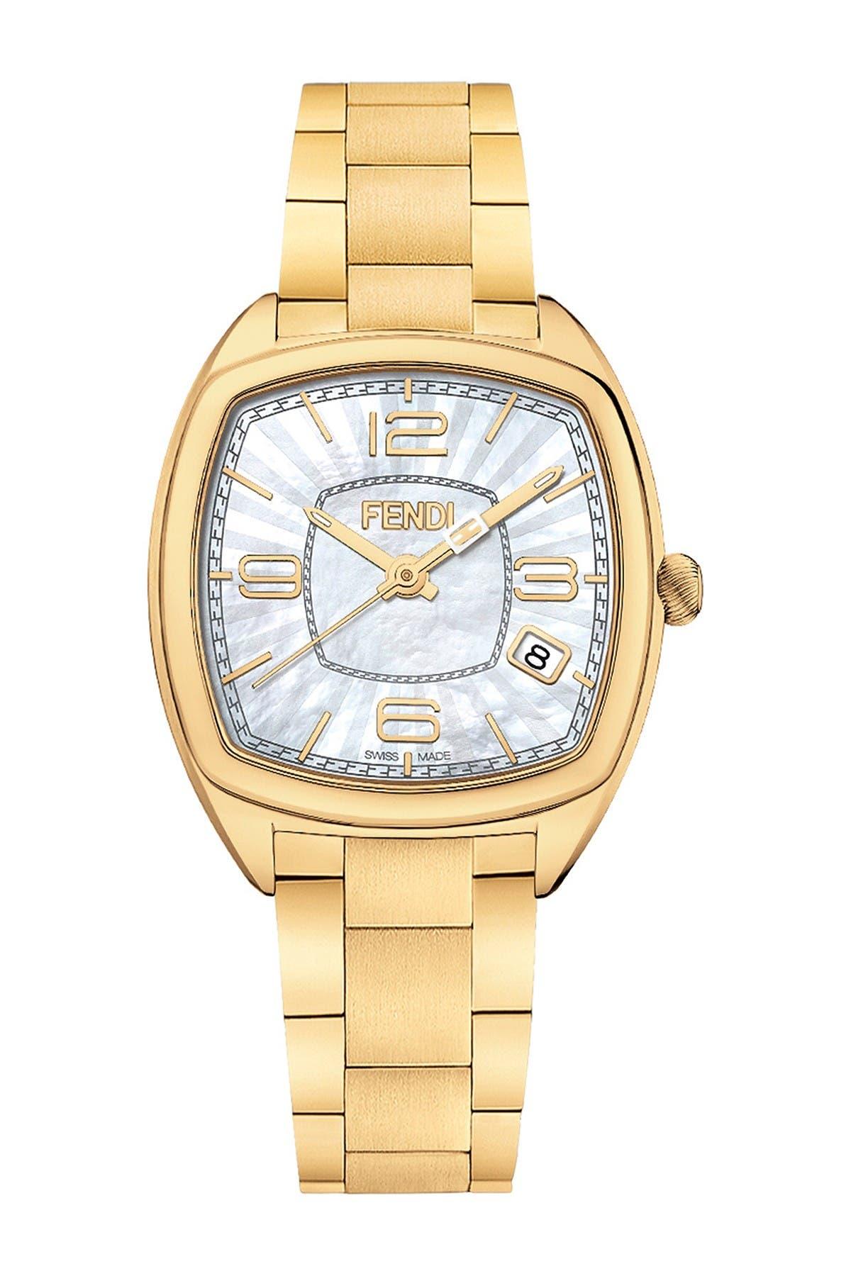 Image of FENDI Women's Momento Bracelet Watch, 31.5 x 32mm