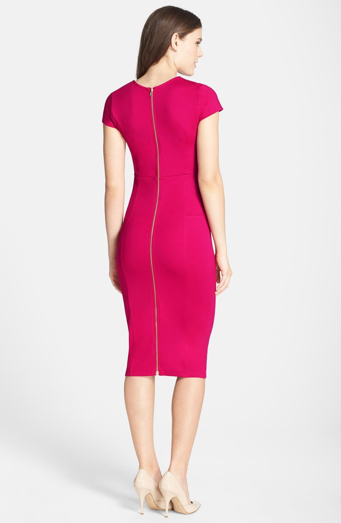,                             Ward Seamed Pencil Dress,                             Alternate thumbnail 61, color,                             668