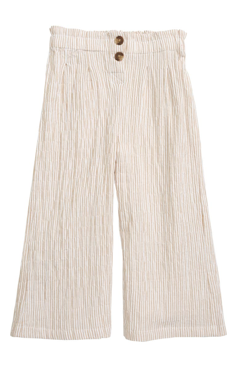 SEED HERITAGE Stripe Culottes, Main, color, SAND
