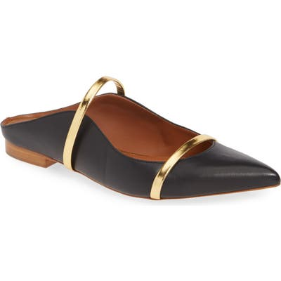 Malone Souliers Maureen Pointy Toe Flat - Black