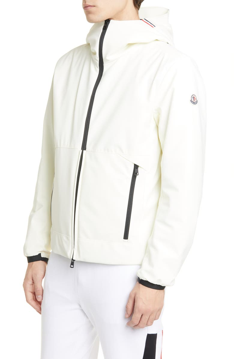 MONCLER Hubert Down Hooded Jacket, Main, color, IVORY