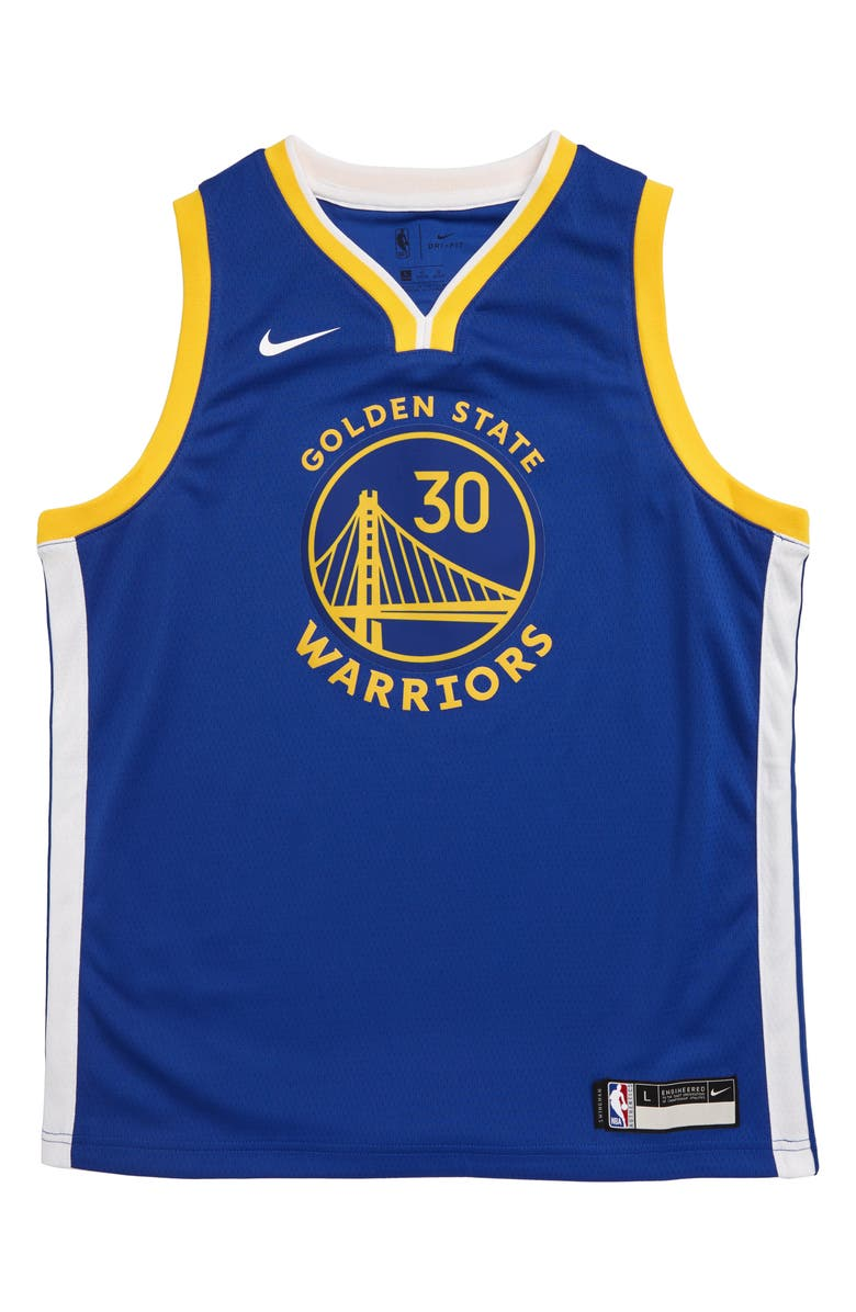 NIKE NBA Golden State Warriors Stephen Curry Basketball Jersey, Main, color, AMARILLO
