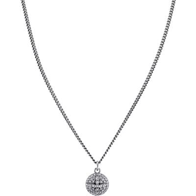 Sheryl Lowe Pave Dome Cross Pendant Necklace