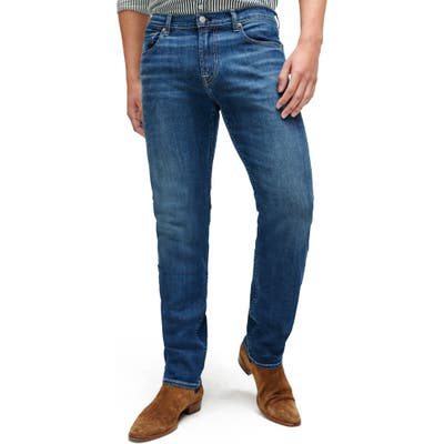 7 For All Mankind Slimmy Straight Leg Jeans Blue