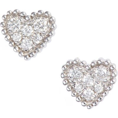 Bony Levy Icons Diamond Pave Heart Earrings (Nordstrom Exclusive)