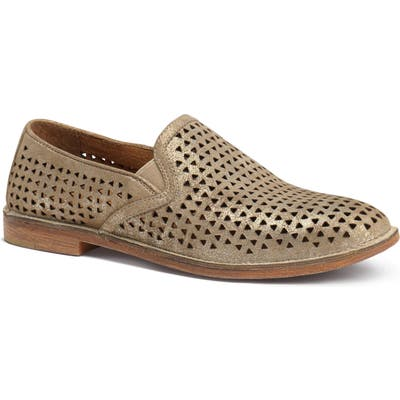 Trask Ali Perforated Loafer, Beige