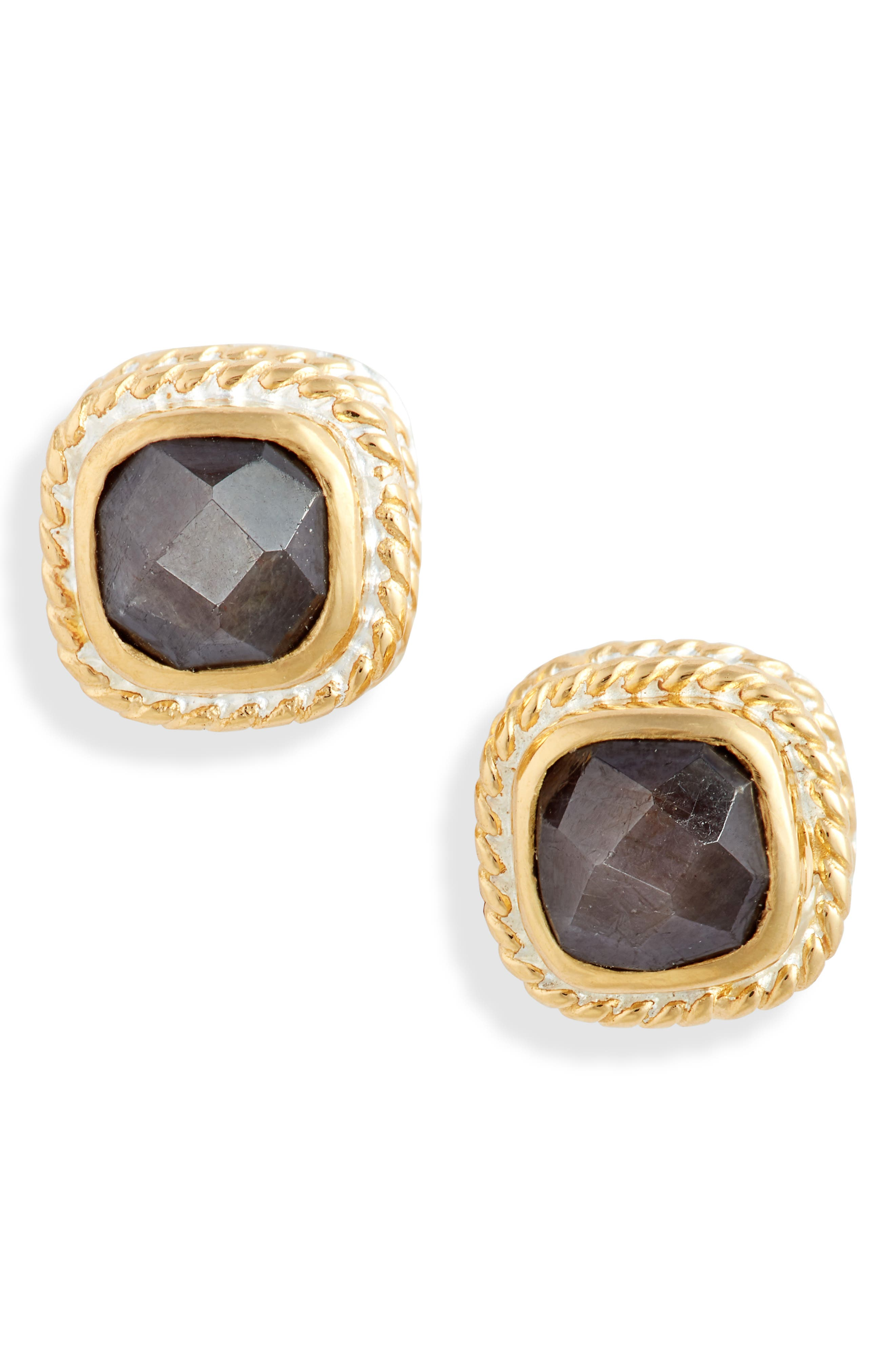 Cushion Stone Stud Earrings (Nordstrom Exclusive)