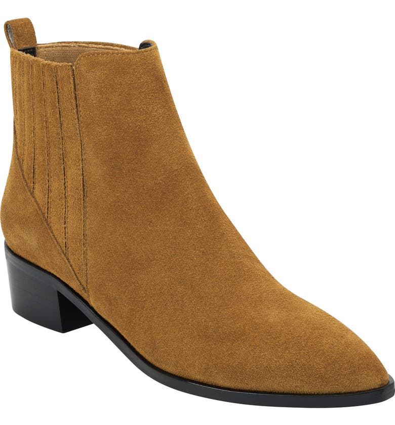 MARC FISHER LTD Yolli Bootie, Main, color, RUM SUEDE