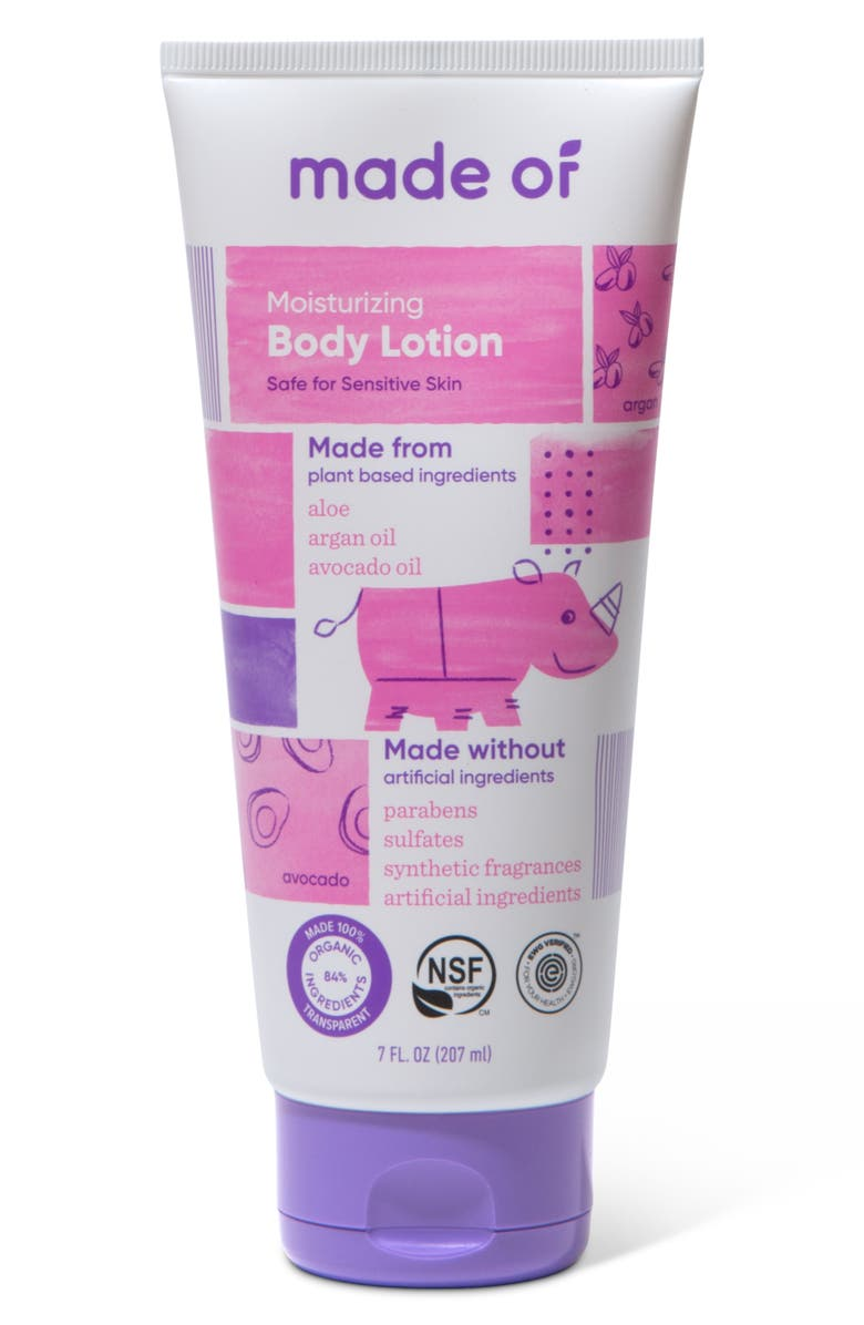 MADE OF Moisturizing Organic Baby Lotion, Main, color, NO COLOR