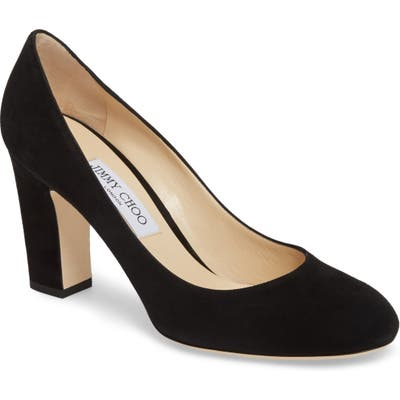 Jimmy Choo Billie Block Heel Pump, Black