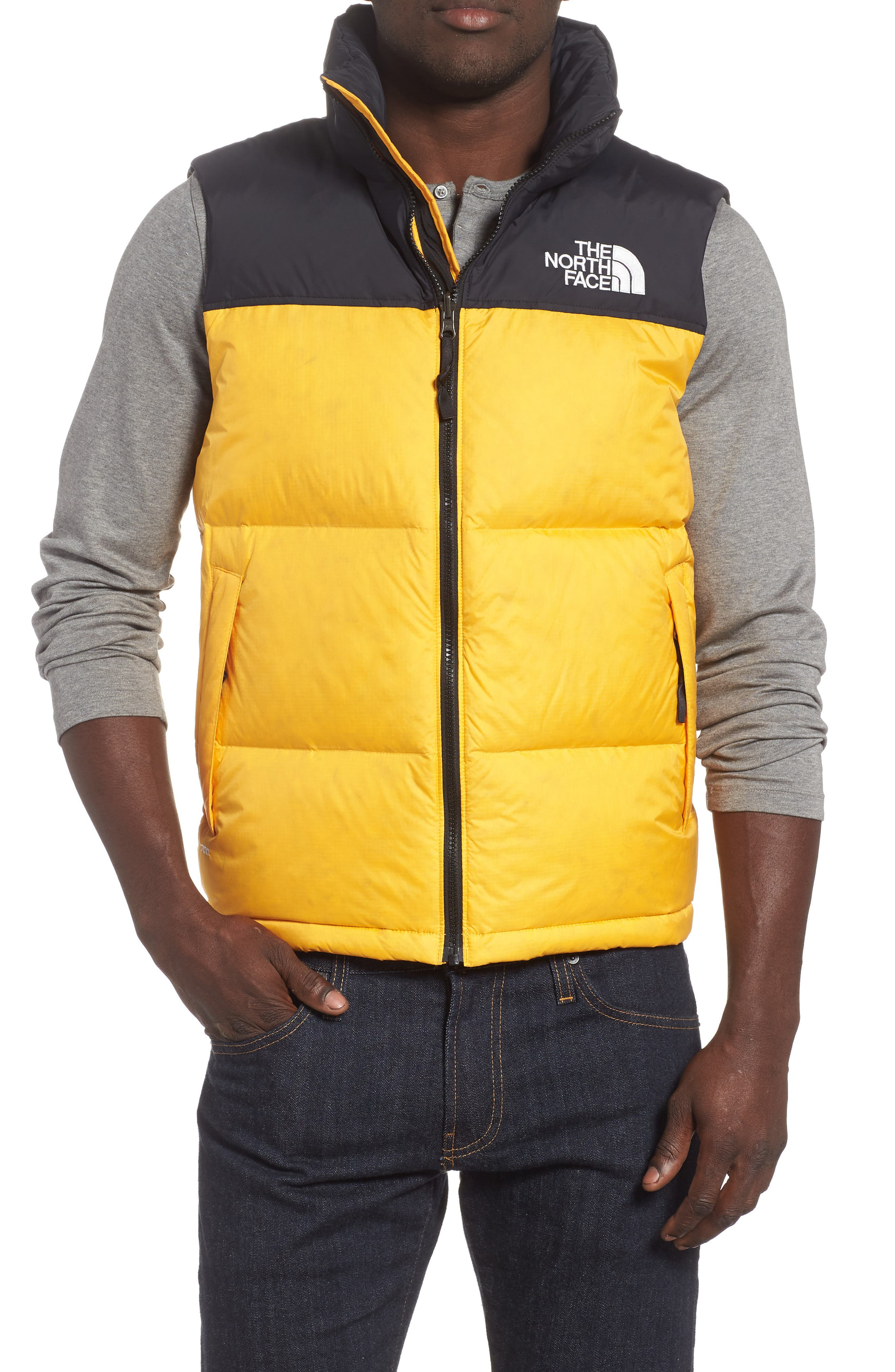 The North Face Nuptse 1996 Packable Quilted Down Vest, Yellow