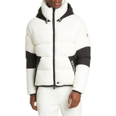 Moncler Grenoble Hooded Soft Puffer Jacket, Beige