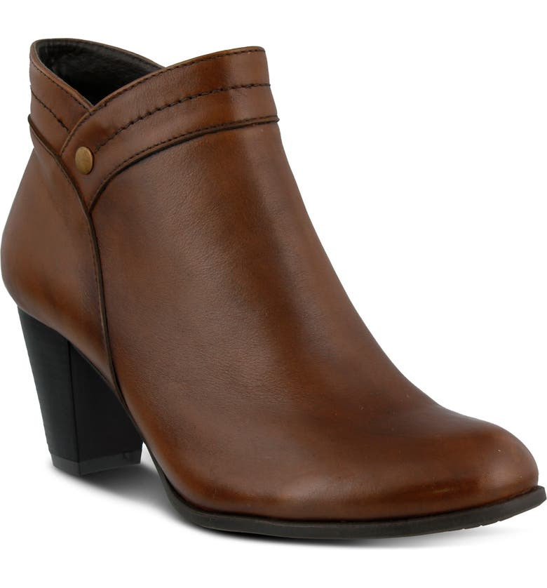 SPRING STEP Italia Bootie, Main, color, BROWN LEATHER