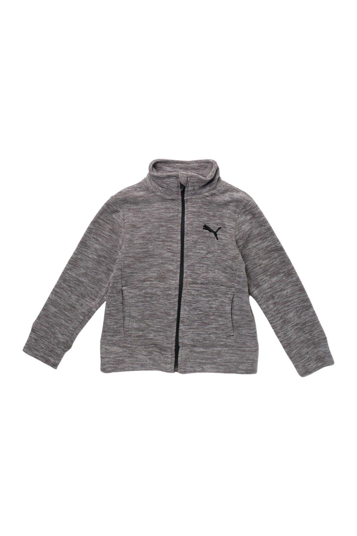 Image of PUMA Polar Fleece Space Dyed Zip Up Sweater