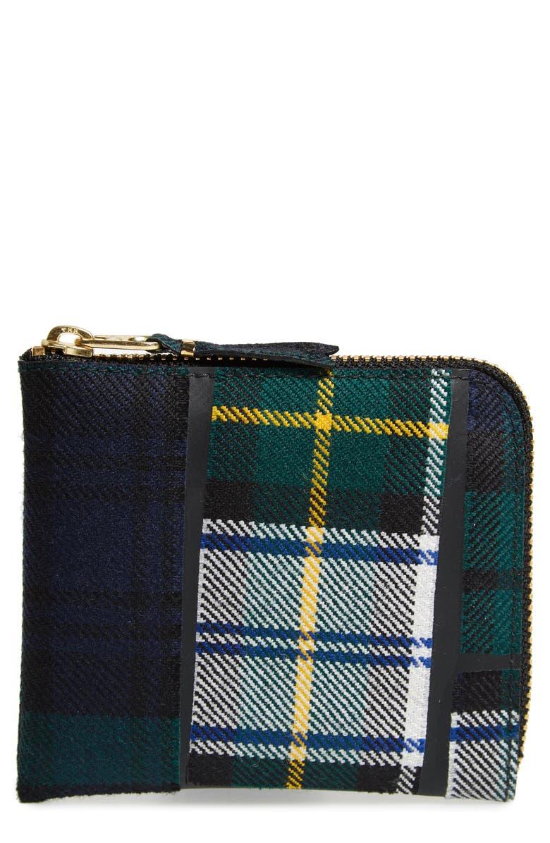 COMME DES GARÇONS Tartan Patchwork Wallet, Main, color, 300