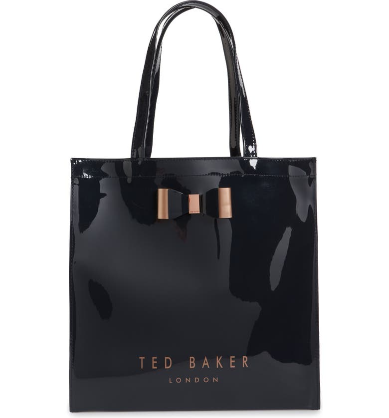 TED BAKER LONDON Large Icon Tote Bag, Main, color, DARK BLUE
