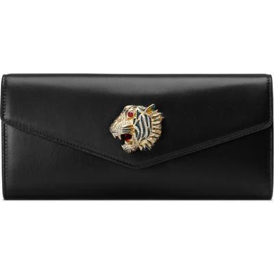 Gucci Broadway Leather Clutch - Black