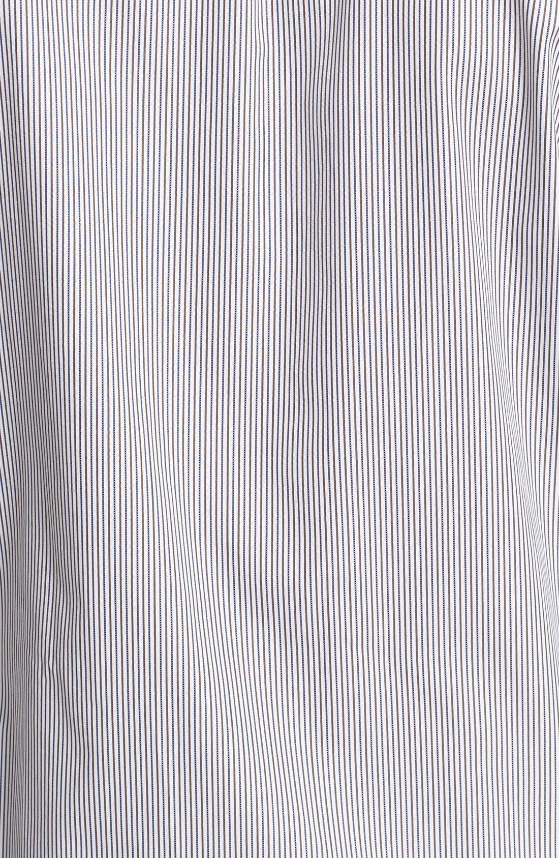 ,                             Trim Fit Stripe Shirt,                             Alternate thumbnail 5, color,                             100