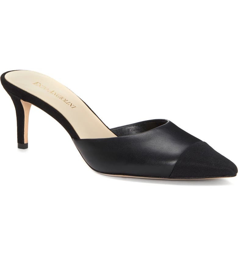 ENZO ANGIOLINI Ranielle Mule, Main, color, BLACK LEATHER