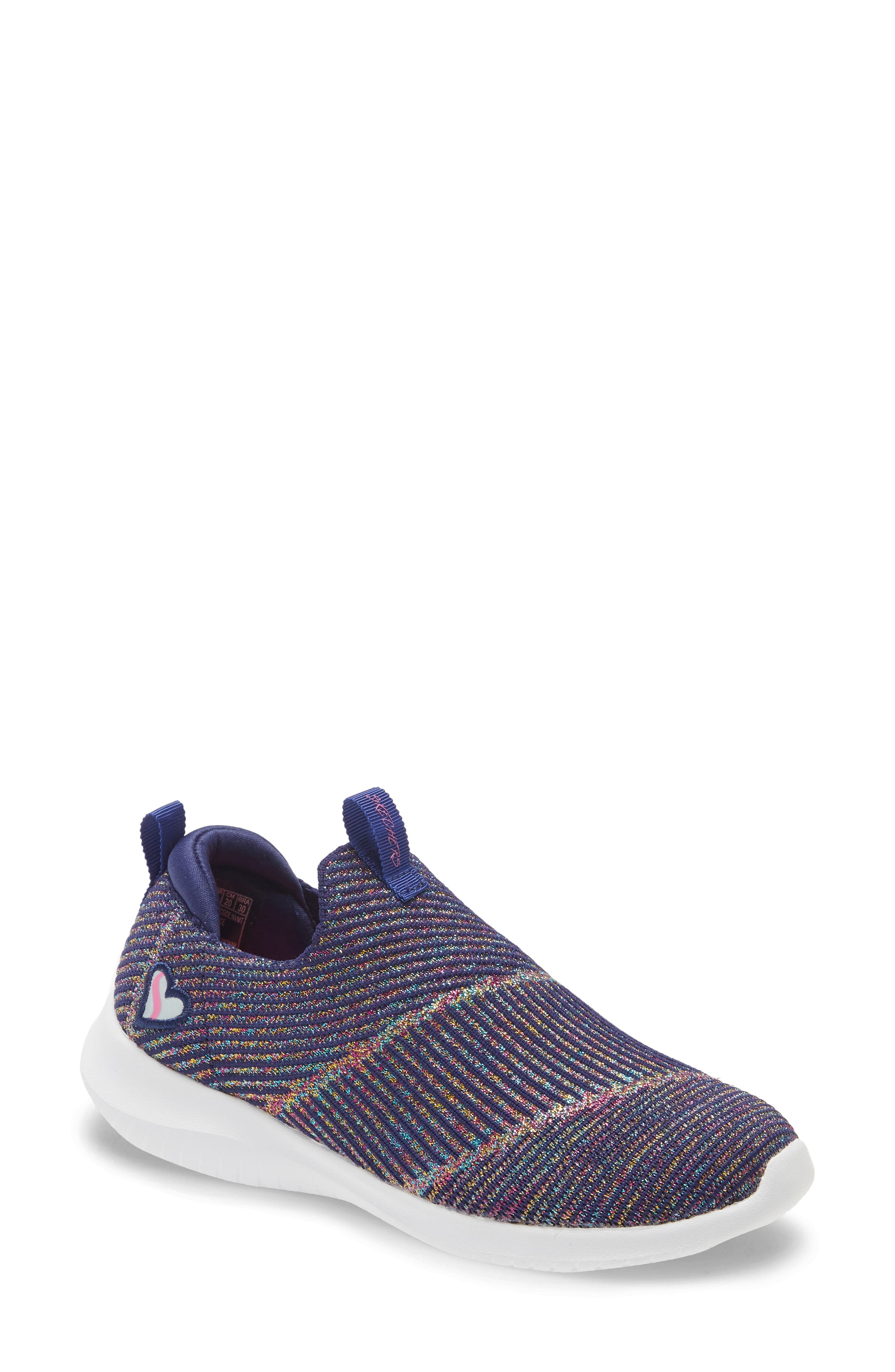 Image of Skechers Ultra Flex Glitter Sock Sneaker