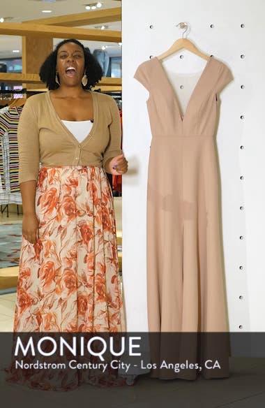Cara Deep V-Neck Evening Dress, sales video thumbnail