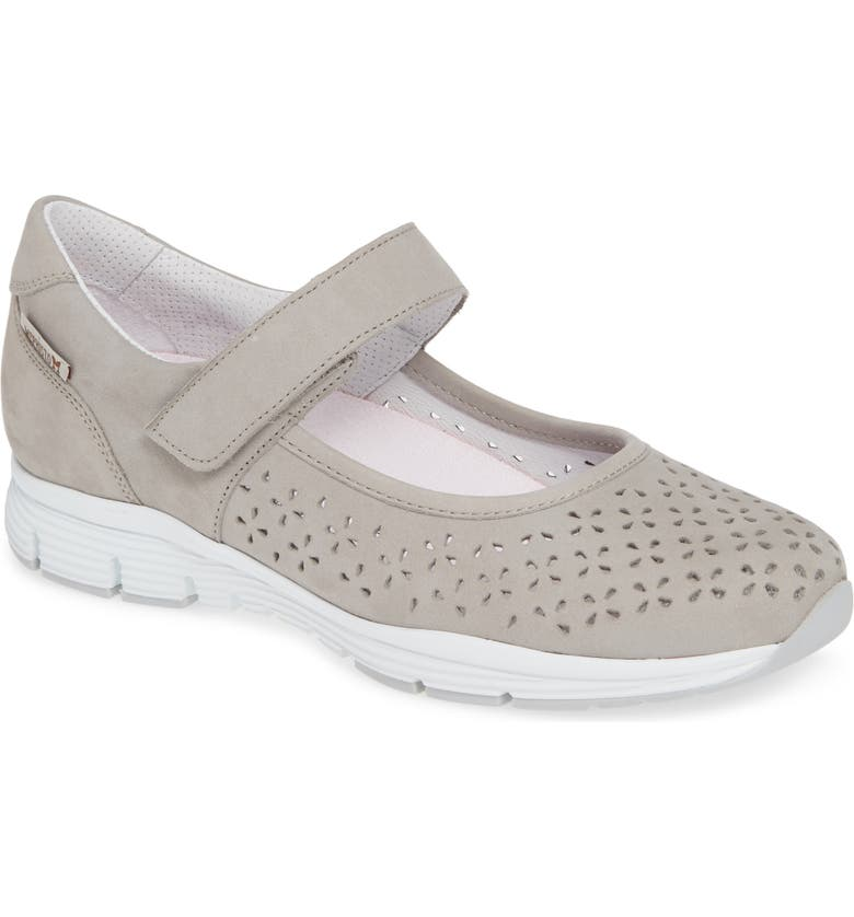 MEPHISTO Yelina Perforated Mary Jane Sneaker, Main, color, CLOUD LEATHER