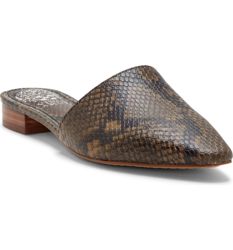 VINCE CAMUTO Felinial Mule, Main, color, TAUPE SNAKE PRINT LEATHER