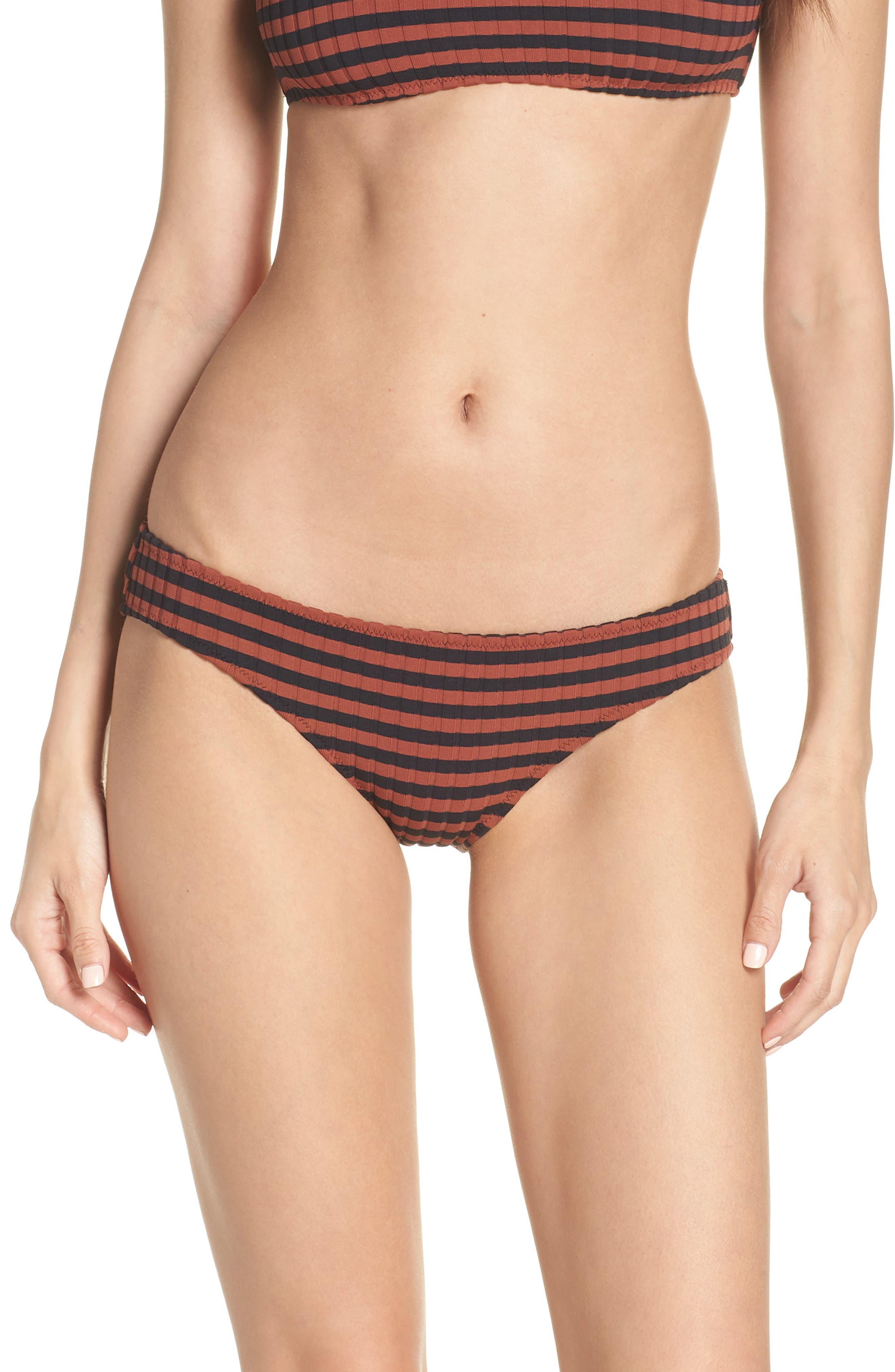 Solid & Striped Elle Bikini Bottoms, Brown