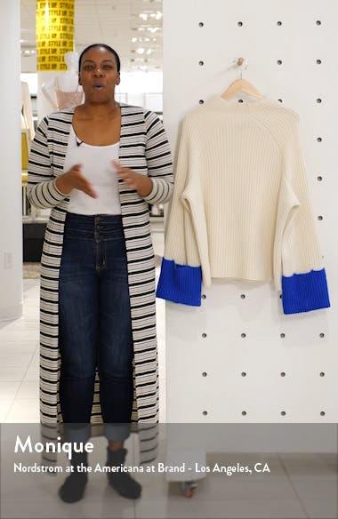 Contrast Cuff Rib Merino Wool Sweater, sales video thumbnail